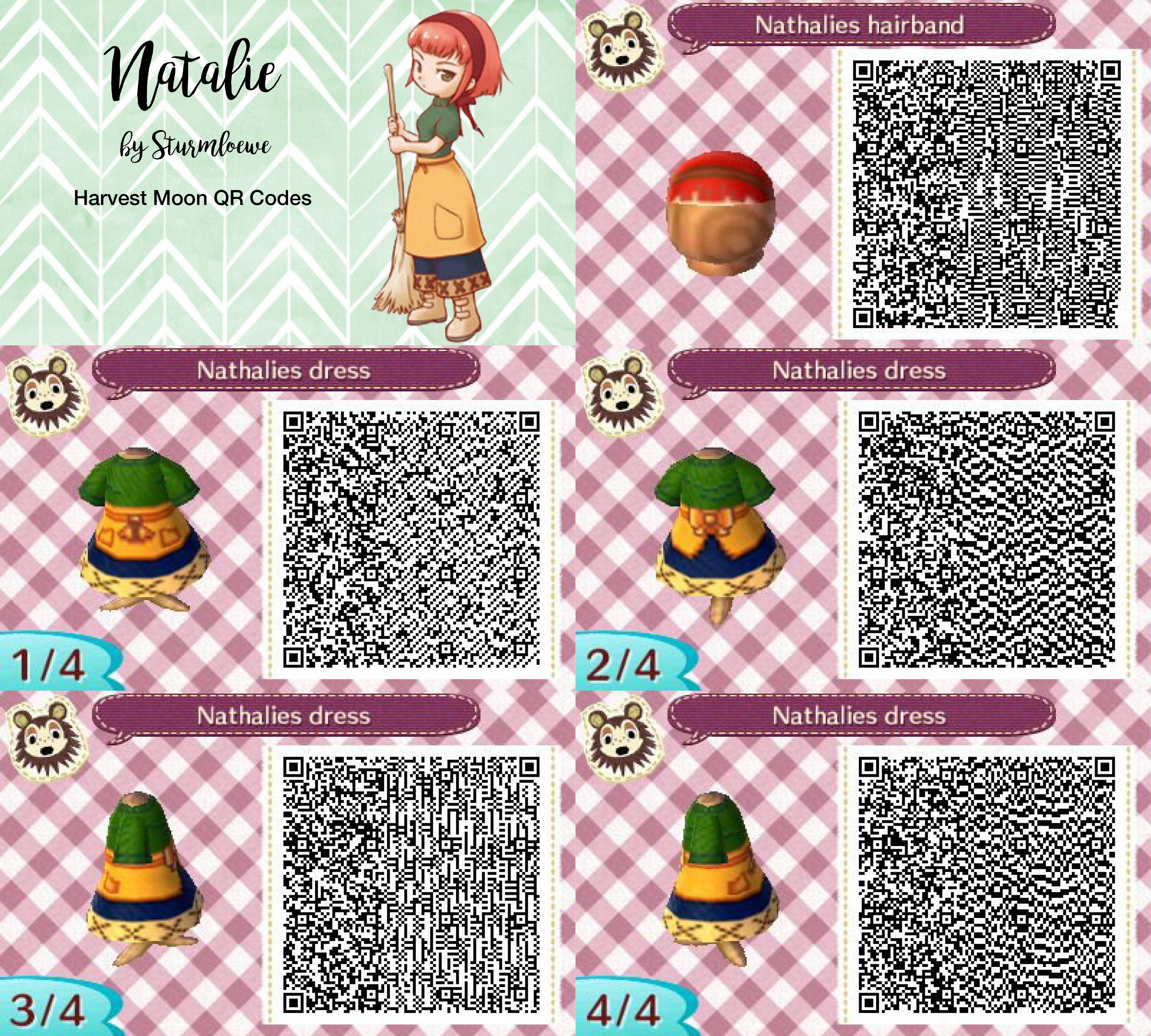 Leather jacket qr code new leaf - Harvest Moon Natalies Dress For Animal Crossing New Leaf Natalie Qr Code