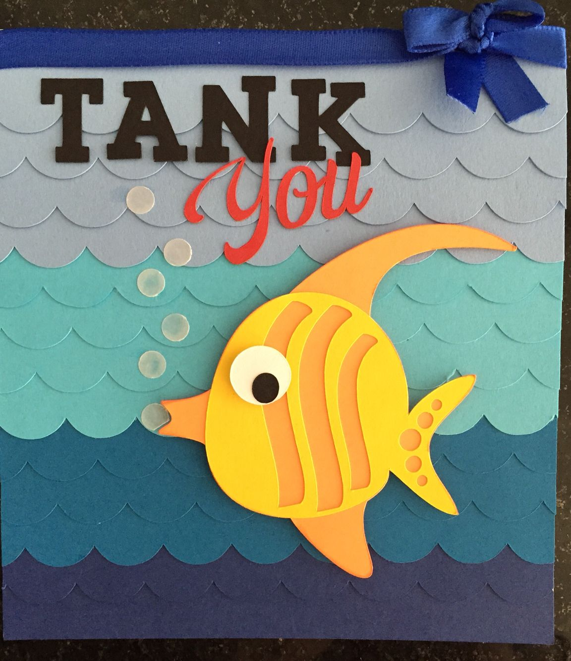 Tank You Fish Thank You Card Card Ideas Pinterest