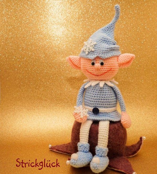Weihnachtself, Zwerg, häkeln | AMIGURIMIS | Pinterest ...