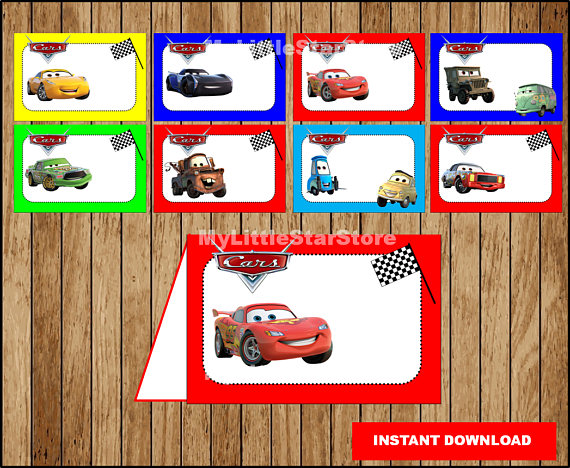 Cars Food labels Printable Cars Food tent cards Disney Cars  sc 1 st  Pinterest & Cars Food labels Printable Cars Food tent cards Disney Cars 3 ...