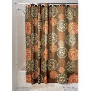 Burnt Orange Shower Curtain Set