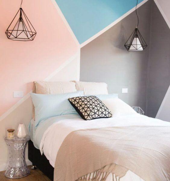 cr er une tete de lit en peinture 20 inspirations canons chambre cosy et confortable. Black Bedroom Furniture Sets. Home Design Ideas