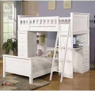 Full Loft Bed With Dresser Underneath Kids Rooms Pinterest Bed