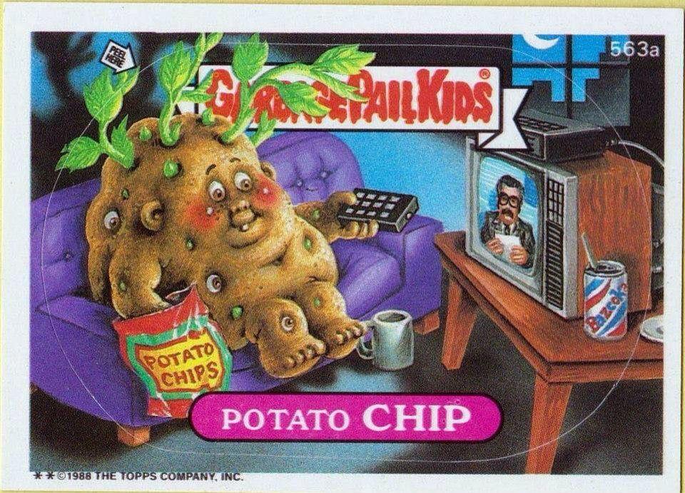 Potato Chip Garbage Pail Kids Cards Garbage Pail Kids Kids Board