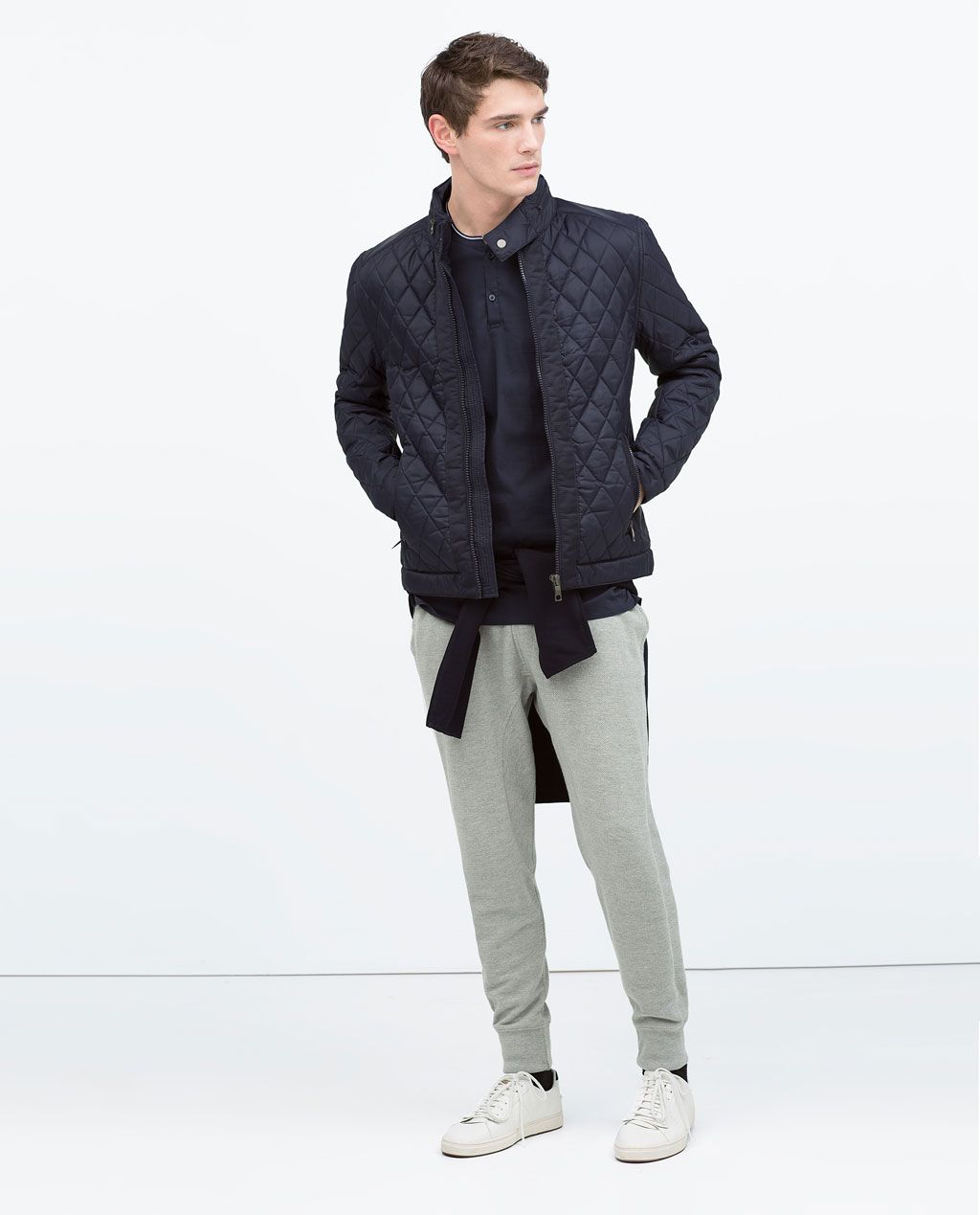 8d1fee599 ZARA - MAN - QUILTED JACKET in navy blue | Men's Stylish Outerwear ...