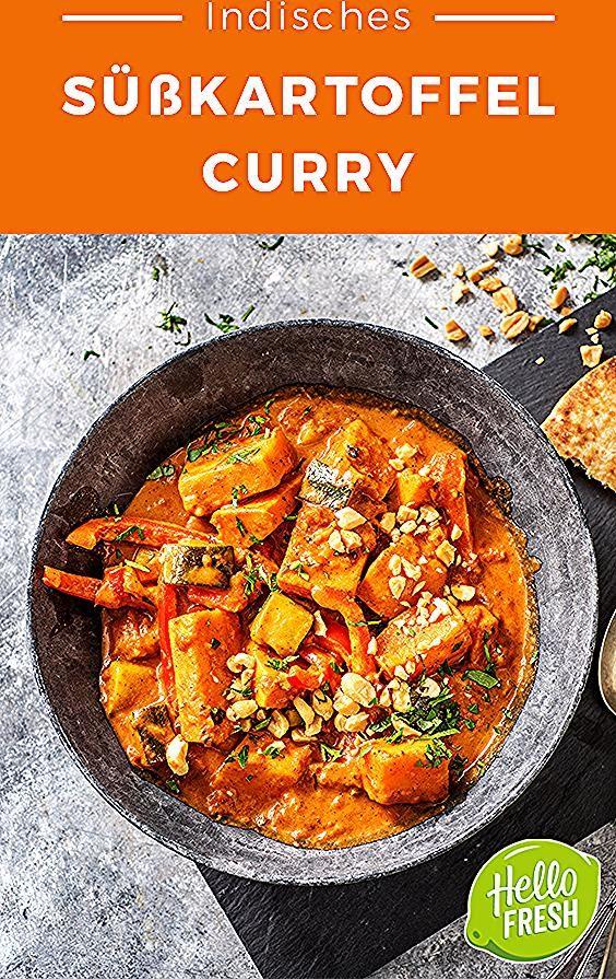 Indisches Süßkartoffel-Curry Rezept