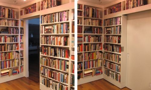 I really want to adapt this idea to make sliding bookshelves/doors for my  front living room/future office.