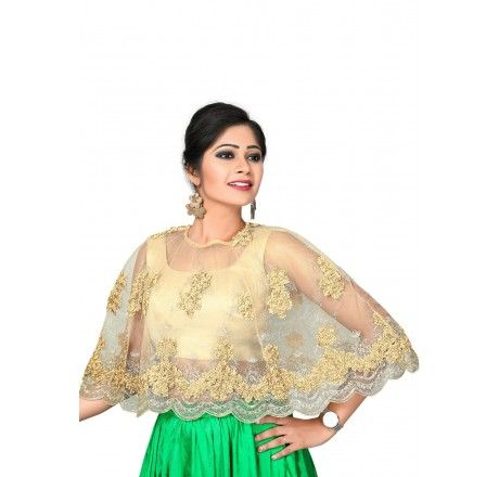 98bc312e52d1fa Cape Poncho ready made blouse / crop top | Saree Blouse in 2019 ...