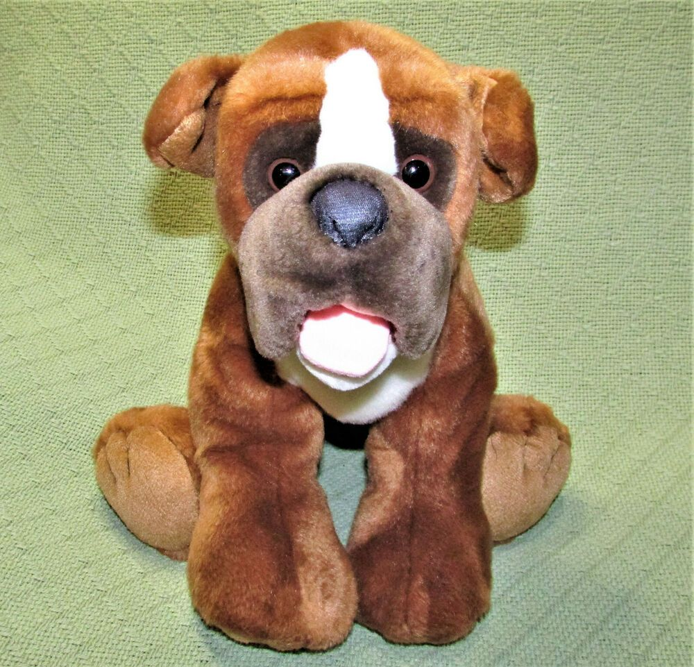 Animal Alley Toys R Us Stuffed Plush Boxer Puppy Dog 9in Boxer