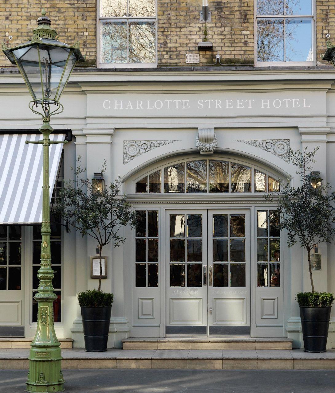 Outside Fa Ade Of Londons Charlotte Street Hotel