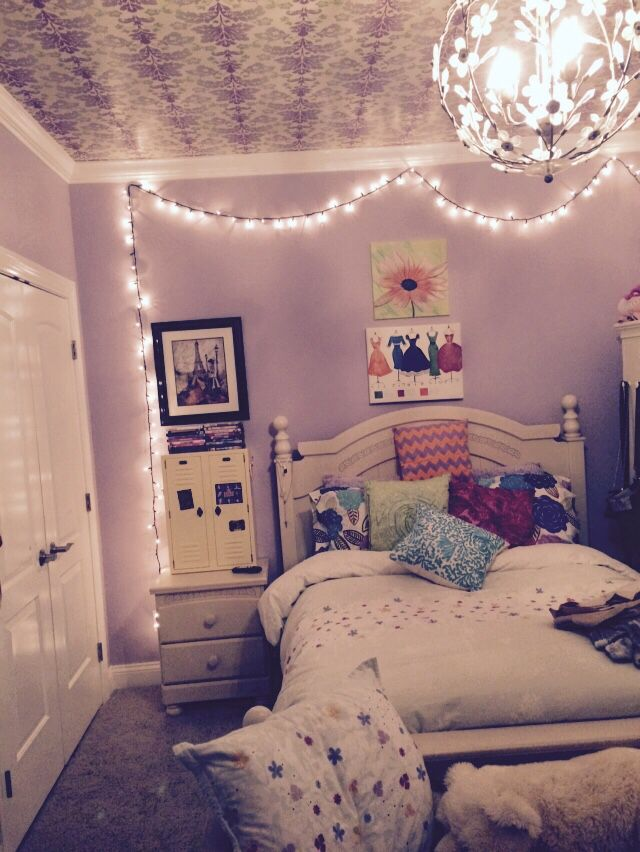 """"""" For a cute tumblr room hang Christmas lights with clear ..."""