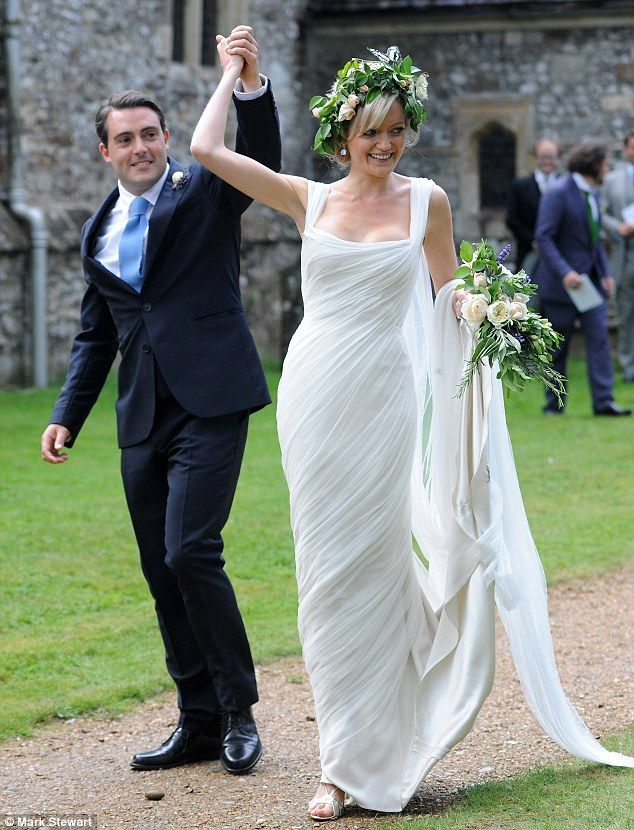 The wedding was a celebration for Lady Eloise Anson and