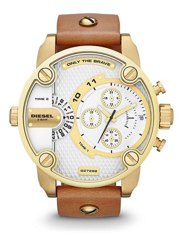 Diesel DZ7288 Little Daddy brown leather men s watch  7ac3243a56