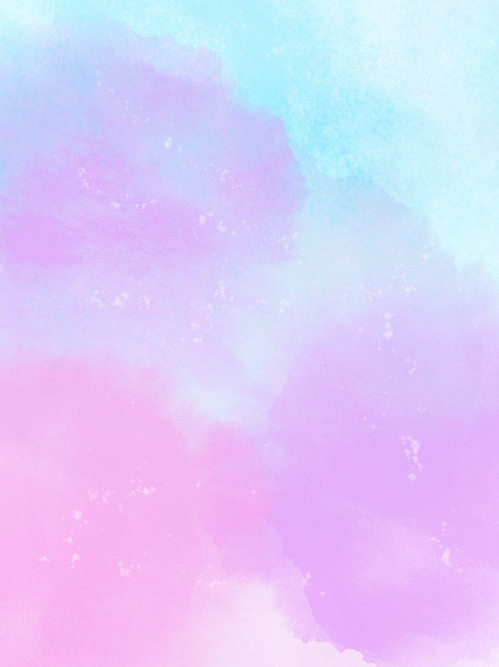 Pink Purple Blue Watercolor Background Latar Belakang Ungu Gambar Hiasan