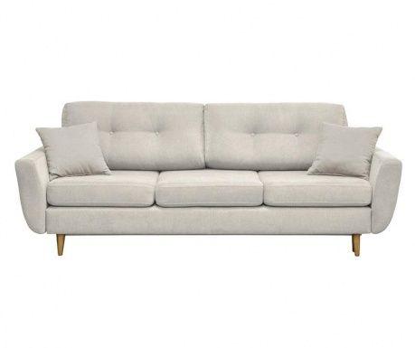 Canapea extensibila 3 locuri Rosa Cream Couch, Sofa