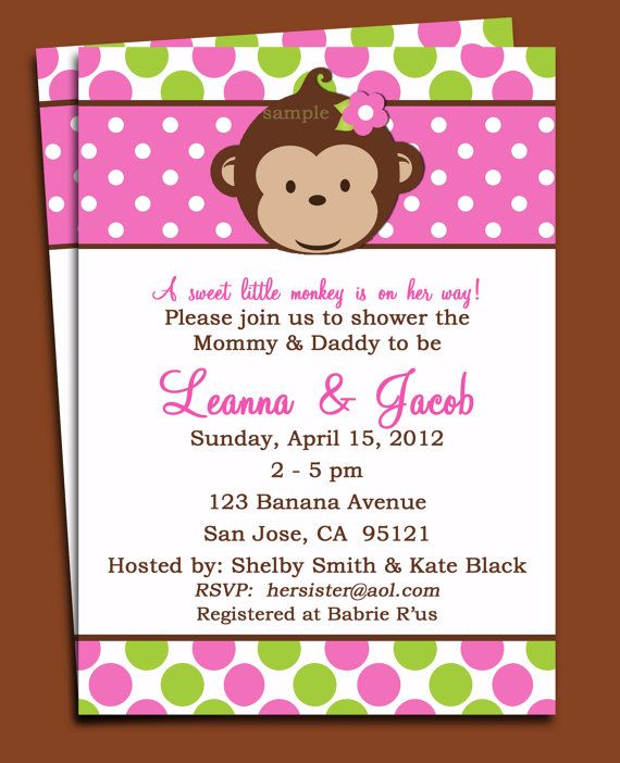 Monkey girl invitation printable or printed with free shipping mod monkey girl invitation printable mod monkey by thatpartychick 1500 filmwisefo Gallery
