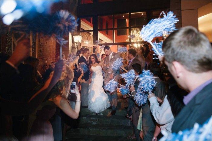 Bride And Groom Carolina Pom Send Off