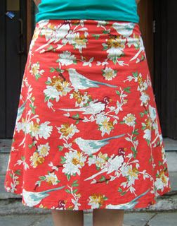 LOVE the fabric for this A-line skirt!