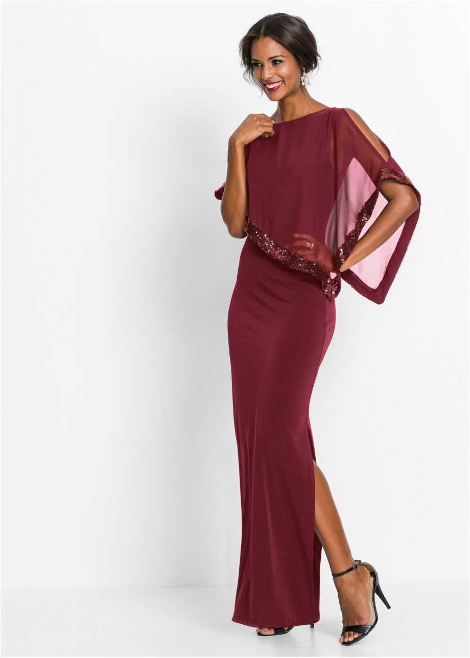 festliches abendkleid mit volant - rot | pailletten kleid