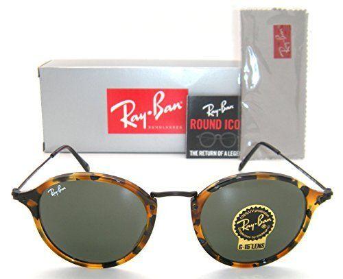 ray ban round rb 2447 1157 49mm spotted black havana frame green rh pinterest com au