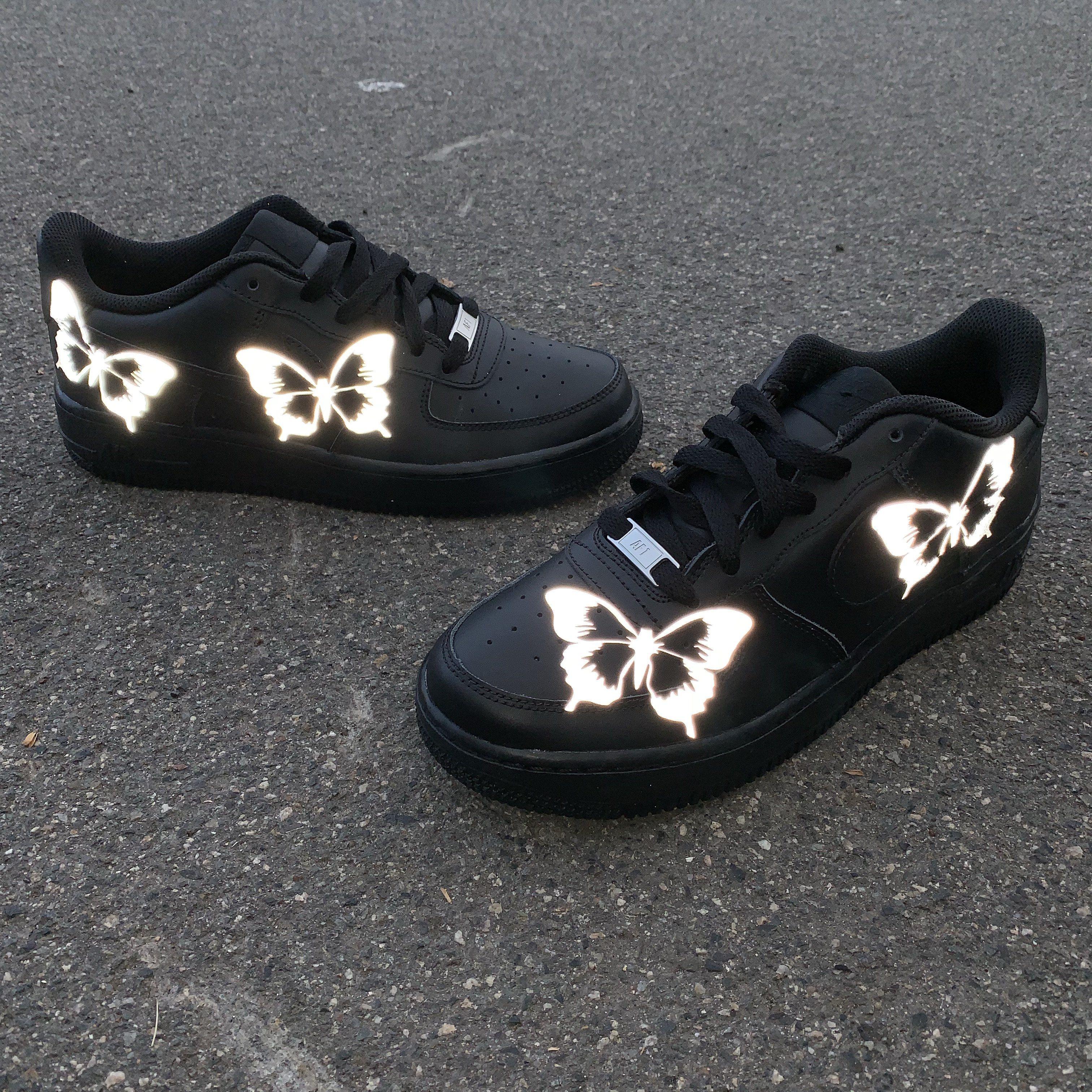 3M Reflective Butterfly AF1 Custom Nuwavezz Nike af1