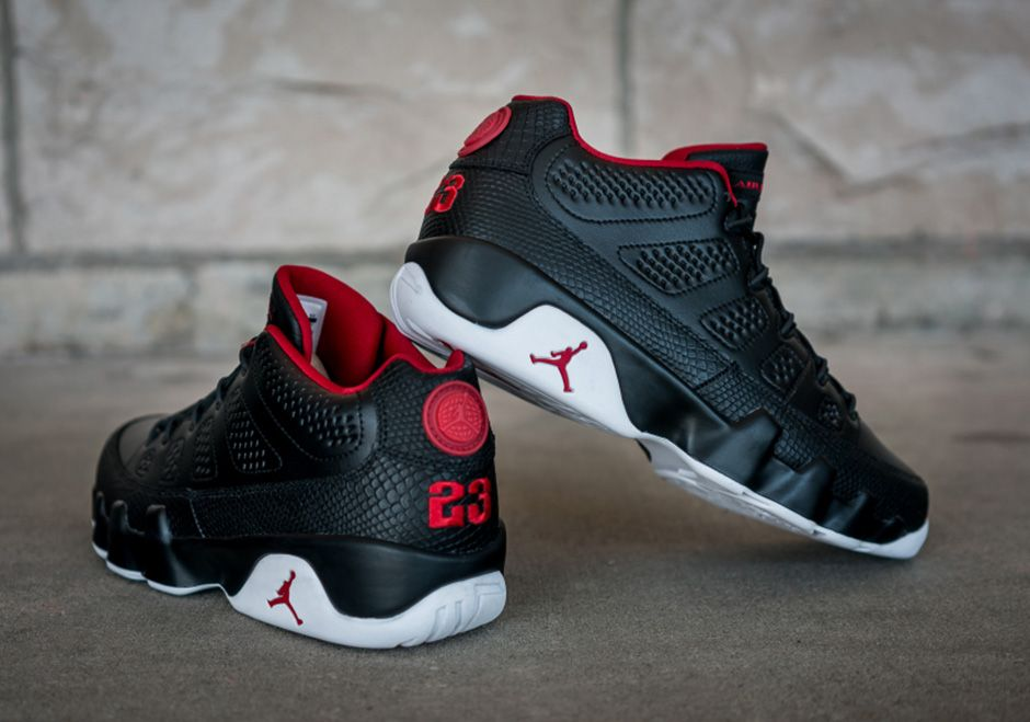"""cc585db4e03a Bred"""" Gets A Snakeskin Remix On This Weekend s Air Jordan 9 Low (The ..."""