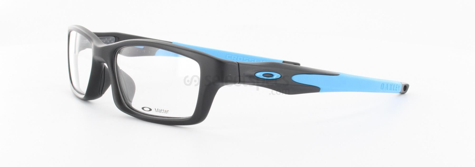 8d471c83e9 Oakley Crosslink in Satin Black and Sky Blue is our most popular choice