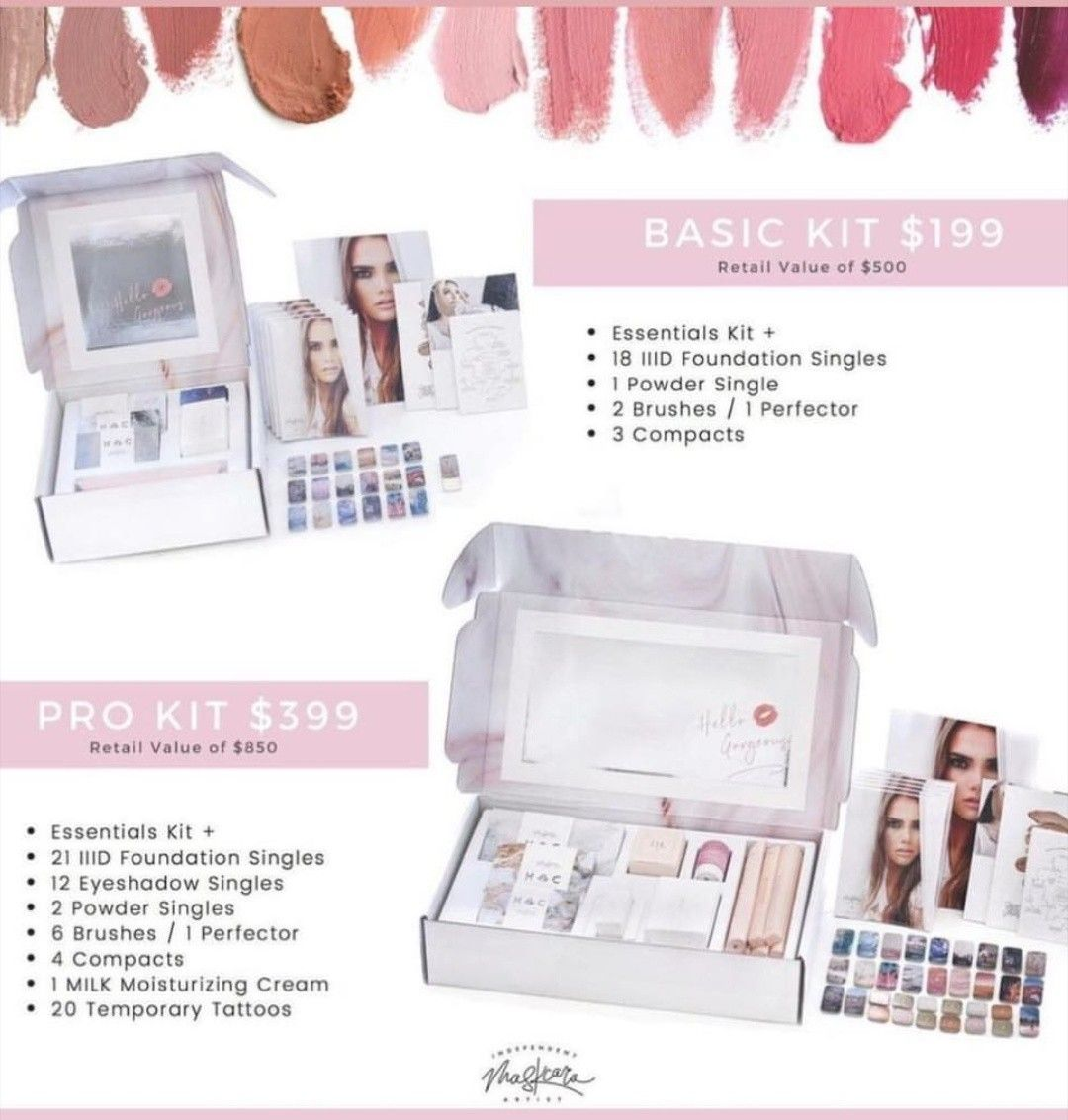 Whats inside a maskcara artist kit? Basic kit for maskcara