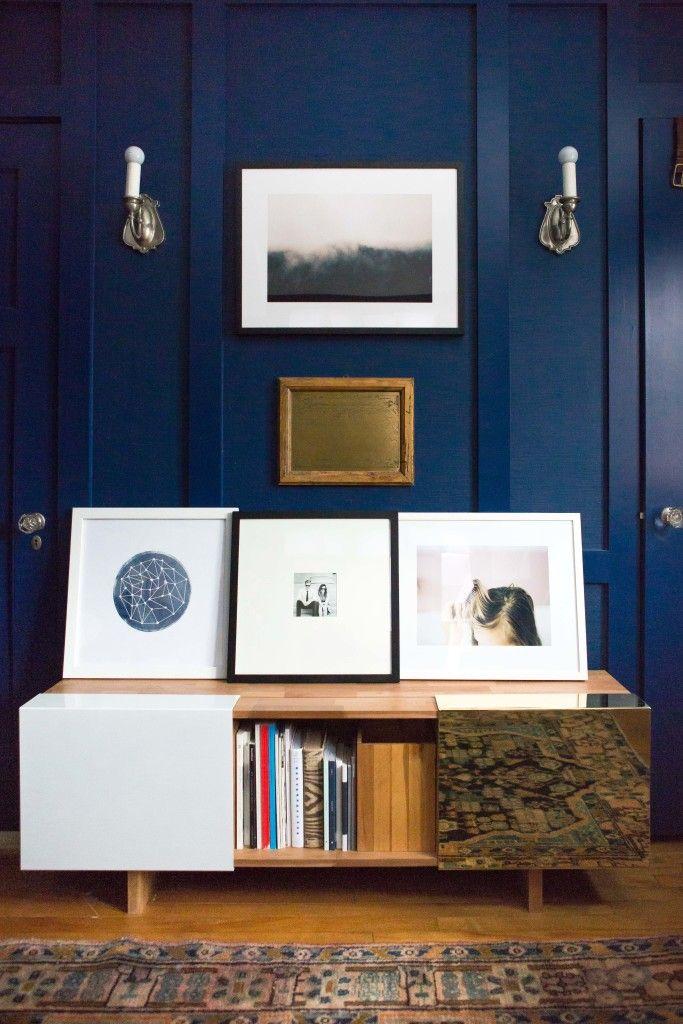 Paint Color U2013 BEHR Marquee Compass Blue // Smart Furniture U2013 Filing  Cabinet, Chair, Table //Woodwork U2013 McDonald Remodeling // Console U2013 LAX  Series U2013 Shelf ...