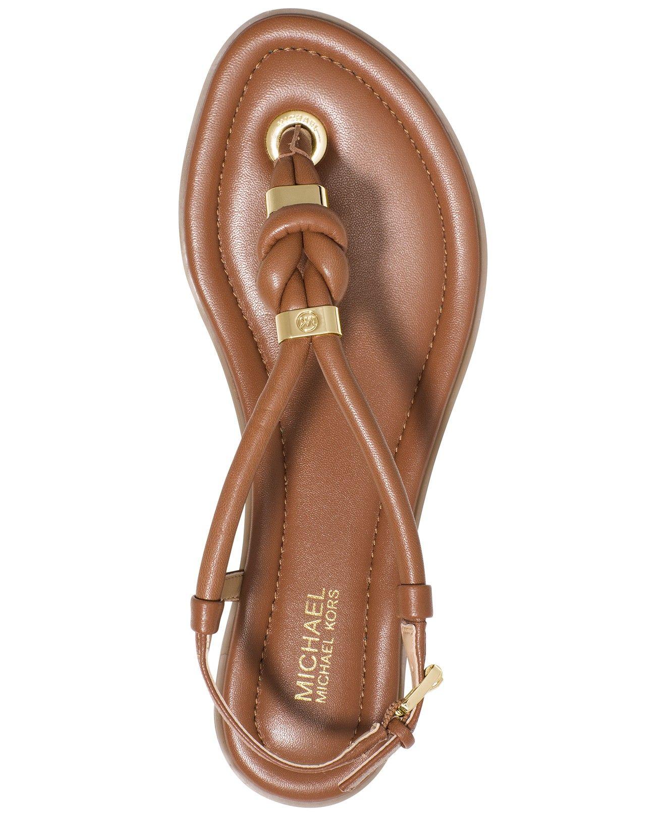 53630dd599f MICHAEL Michael Kors Holly Flat Thong Sandals - Sandals - Shoes - Macy s