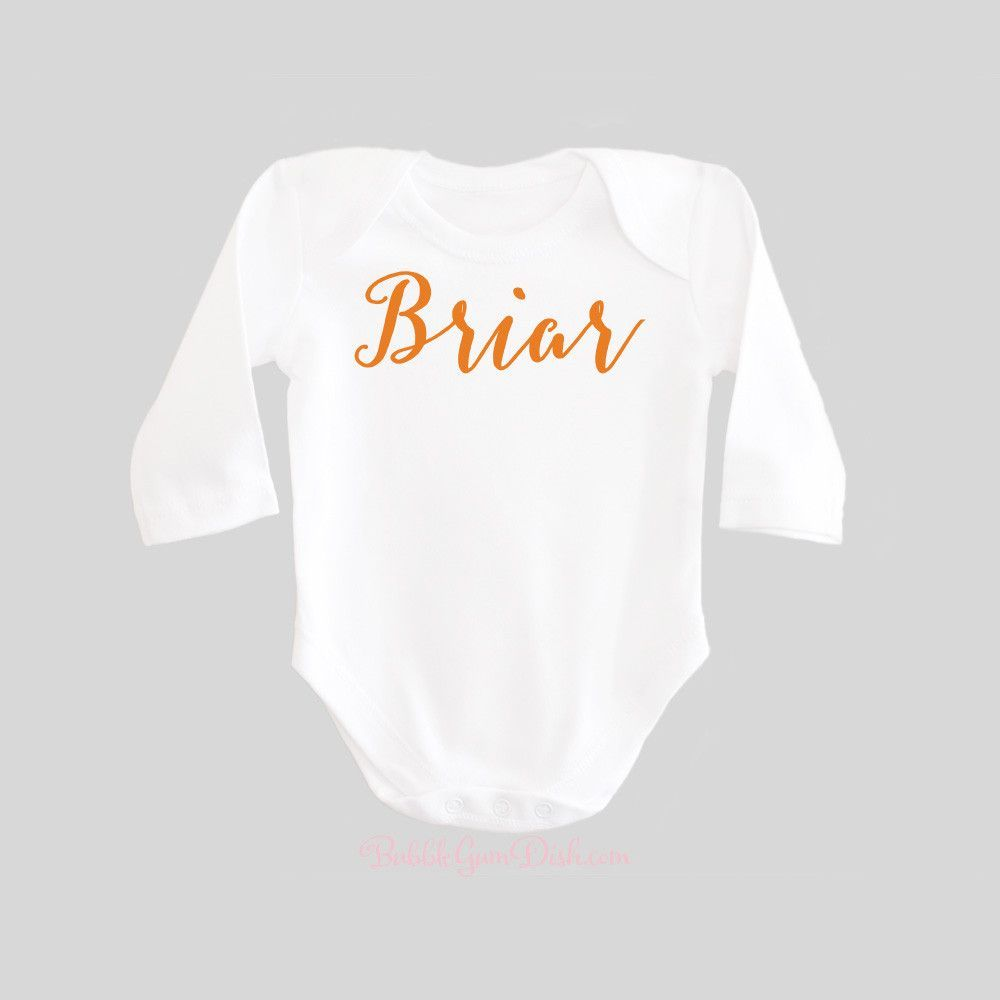 Personalized Name Gifts Baby Bodysuit