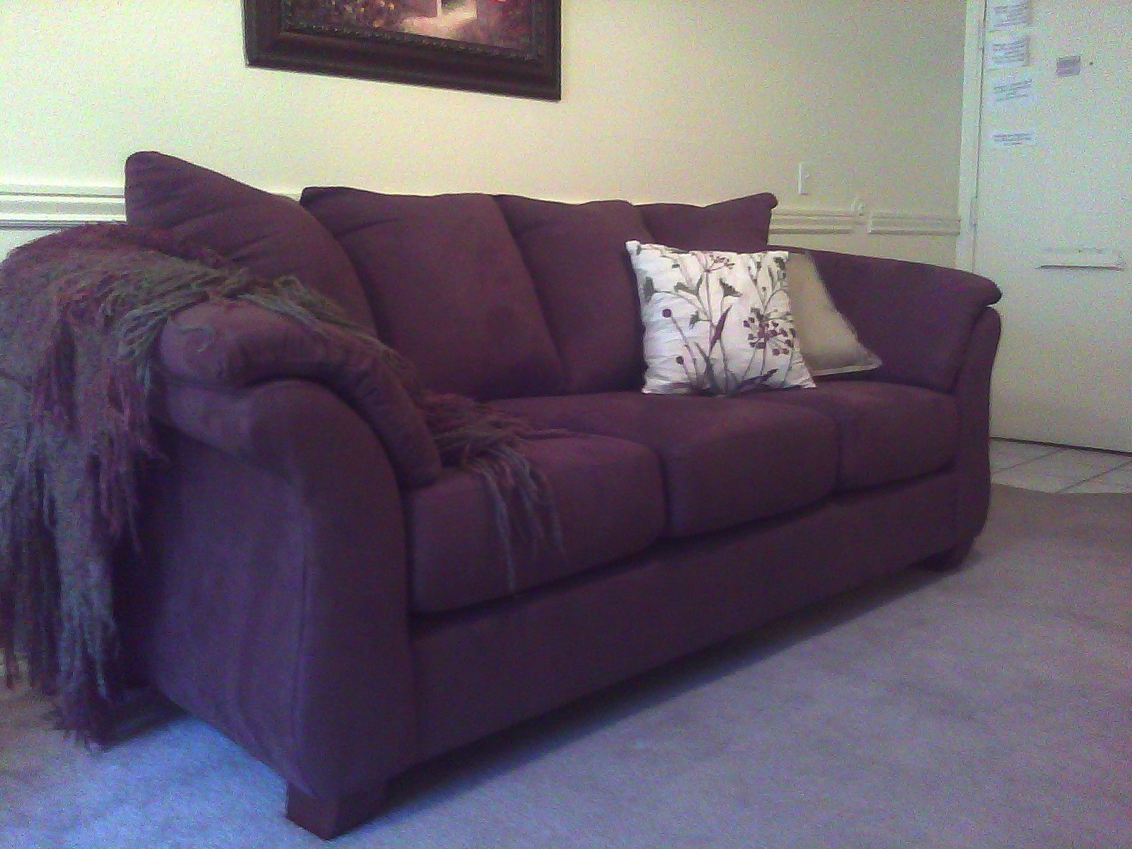 This is what my purple couch looks like at home