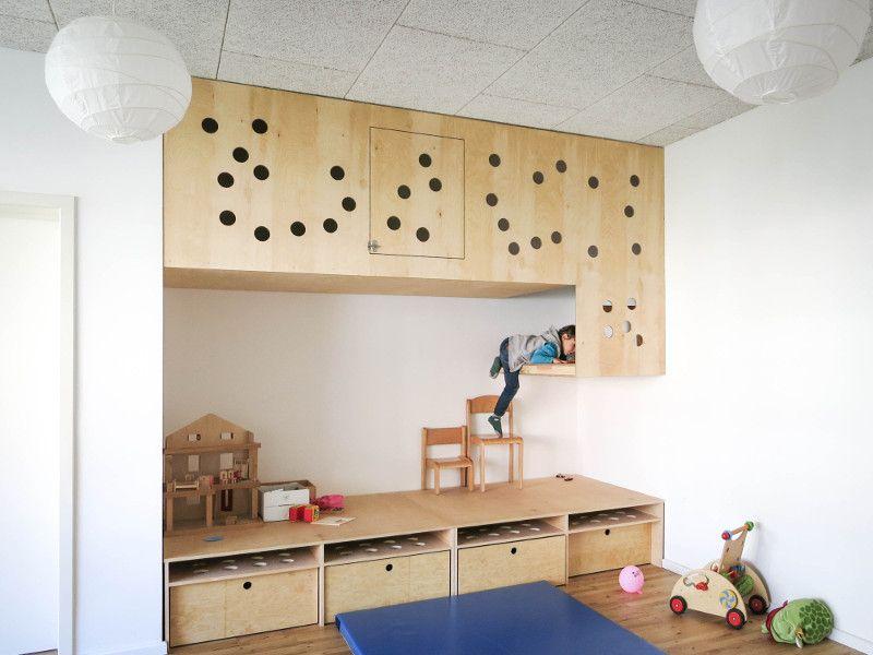 Klettermöbel Kindertagesstätten Pinterest - kinderzimmer teilen trennwand