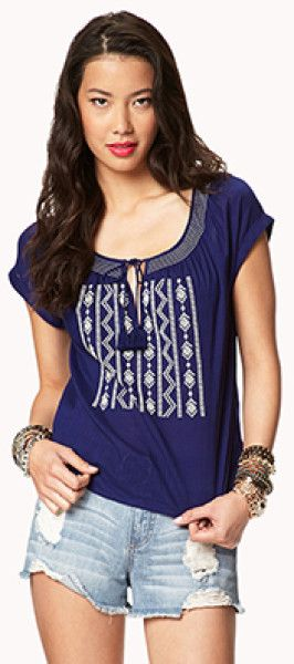 fbcd5b01381837 peasant tops forever 21 - Google Search | Casual Wear-Woven-Peasant ...