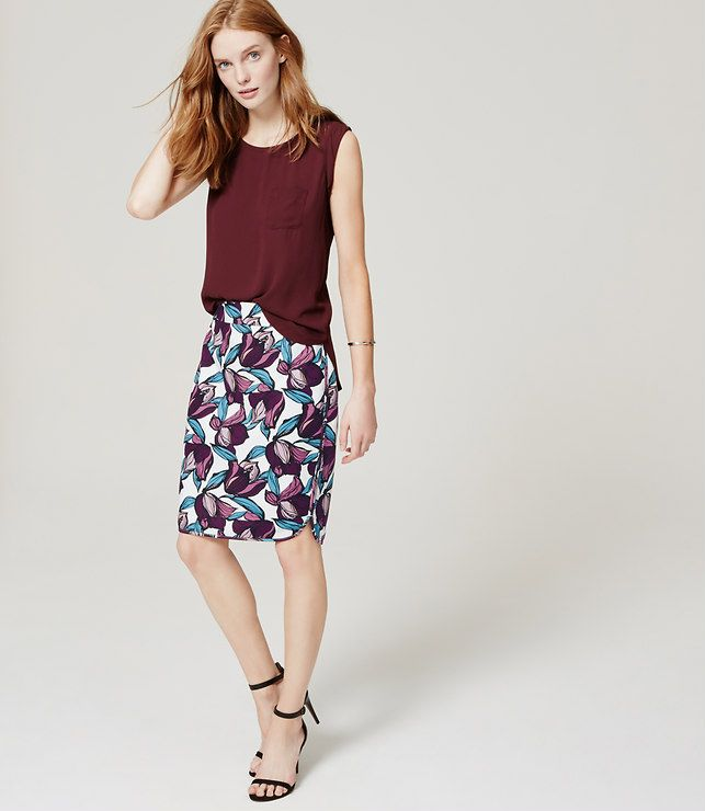 60f3c0373c67 Primary Image of Wild Orchid Pencil Skirt   My Style   Floral pencil ...