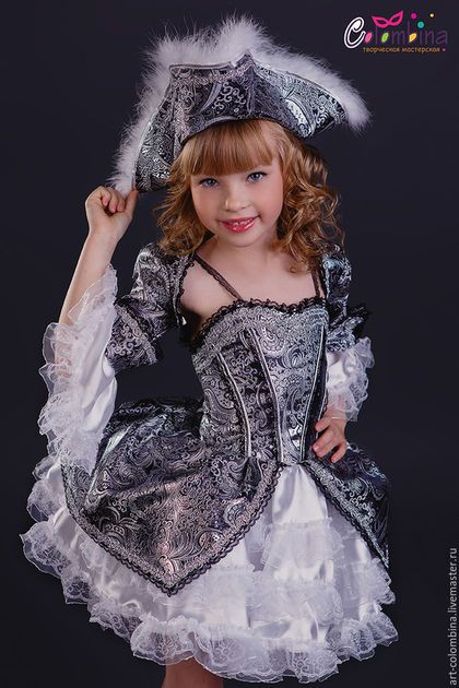 Купить или заказать костюм пиратки в интернет-магазине на Ярмарке Мастеров. Карнавальный костюм пиратки для девочки Комплектация: платье, болеро, шляпа сапоги продаются отдельно размер 134-146+300…