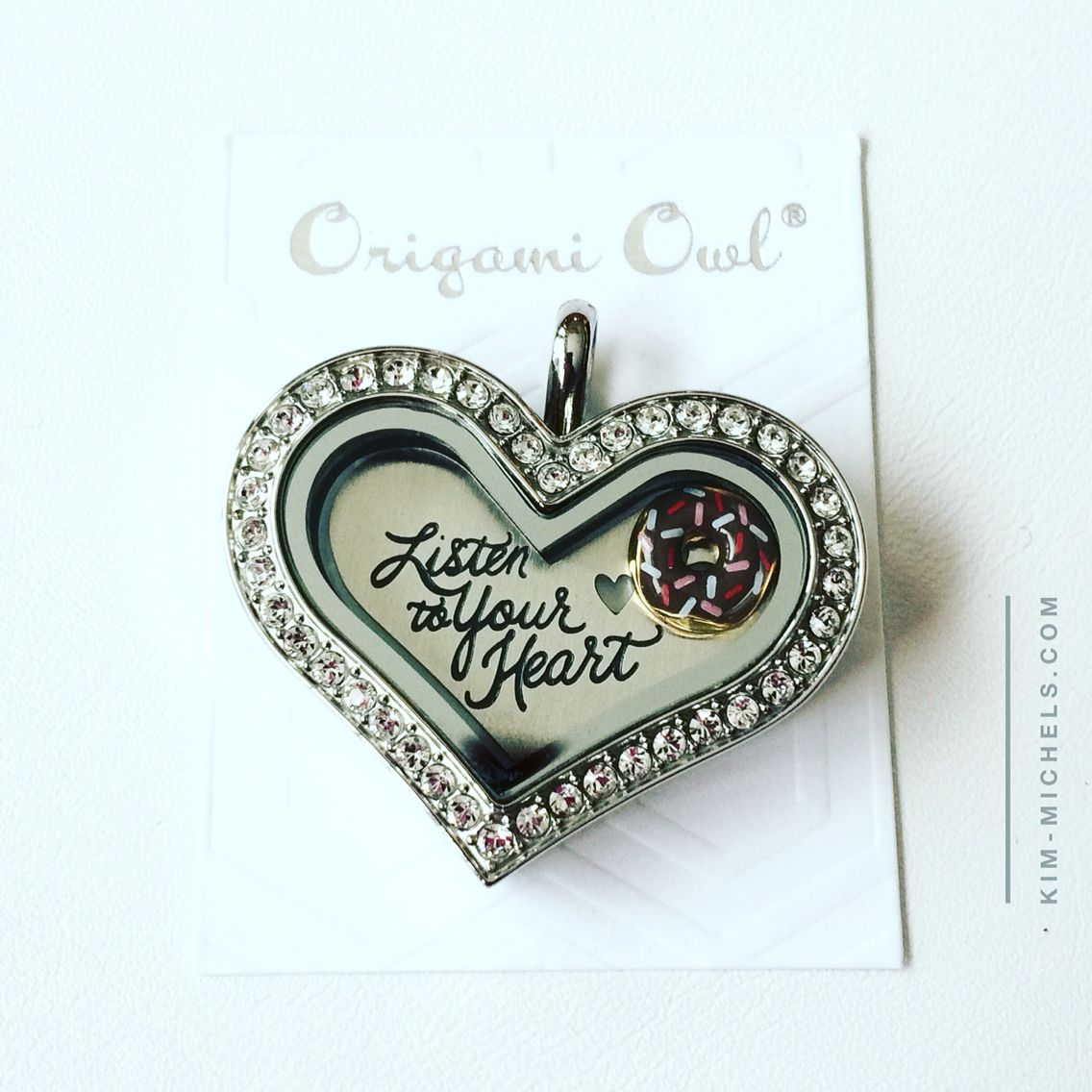 Listen to your heart have the chocolate donut lol origami owl listen to your heart have the chocolate donut lol origami owl jeuxipadfo Images