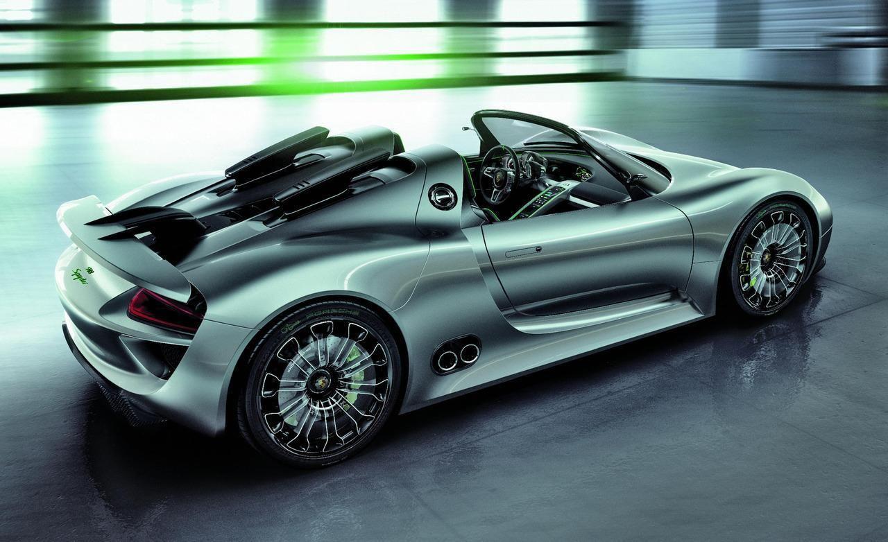 Porsche 918 Spyder Engine: 4.6 L 580 horsepower (430 kW) V8 (9,500 ...