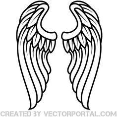 Wings Outline Clip Art Free Vector Angel Wings Drawing Wings Drawing Free Clip Art