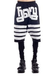 Holy Embroidered Drop Crotch Shorts with Leggings #KTZ