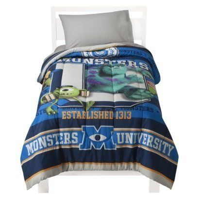 Disney Monsters University Comforter, Twin Monster Bedding