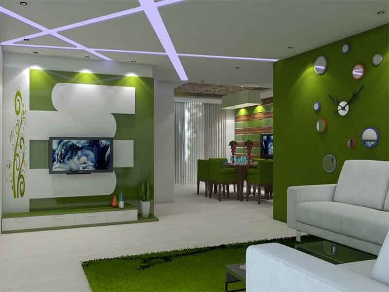 Beautiful hall Interior Design including Dining Room LivingRoom