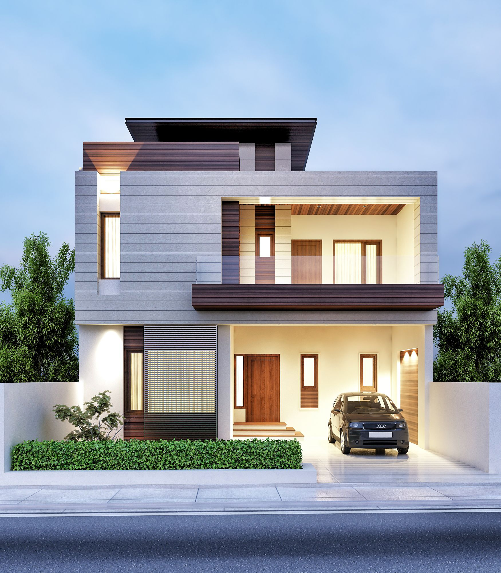 Architectural previsualization renders front elevation designs house front home exterior design design interior