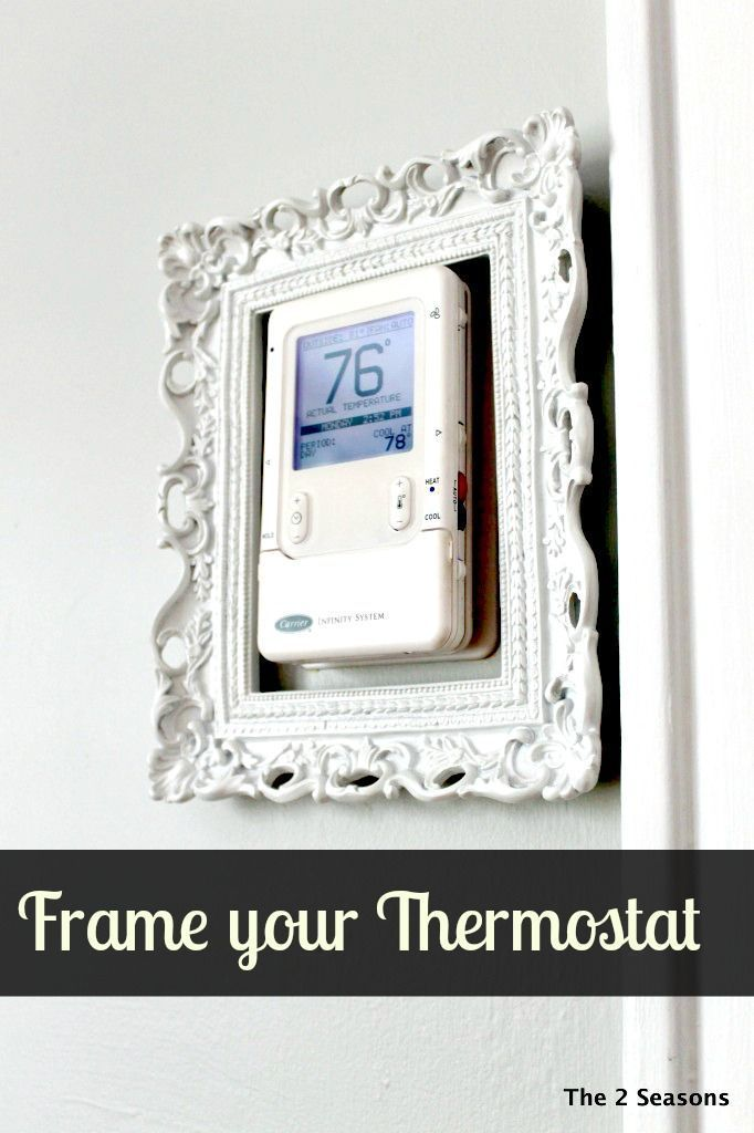 My your thermostat art by framing it. Quick and easy trick. | DIY ...