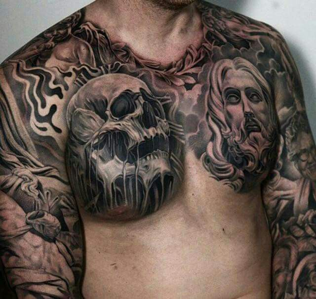 Chest Tattoo, Different Styles