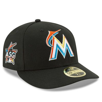 Men s New Era Black Miami Marlins 2017 All-Star Game Patch Authentic  Collection On-Field Low Profile 59FIFTY Fitted Hat abd5128654e