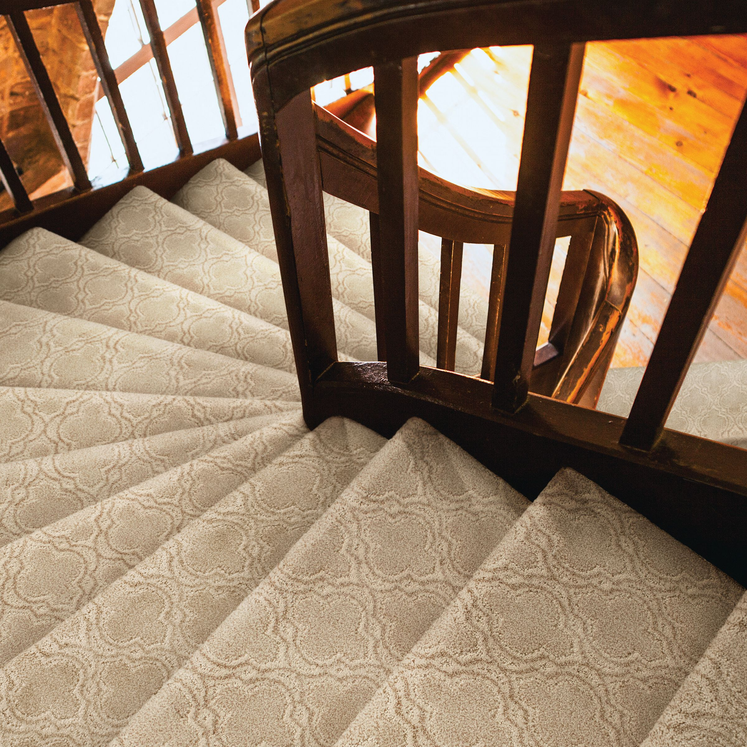 Europa Carpet on Stairs