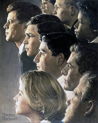 Norman Rockwell, The Peacecorps, JFK's bold legacy