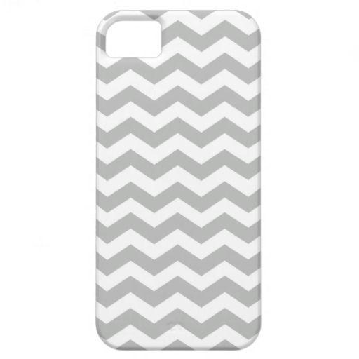 Gray Chevron Stripes Pattern iPhone 5 Case