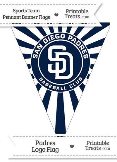 San Diego Padres Pennant Banner Flag San Diego Padres Pennant Banners Padres